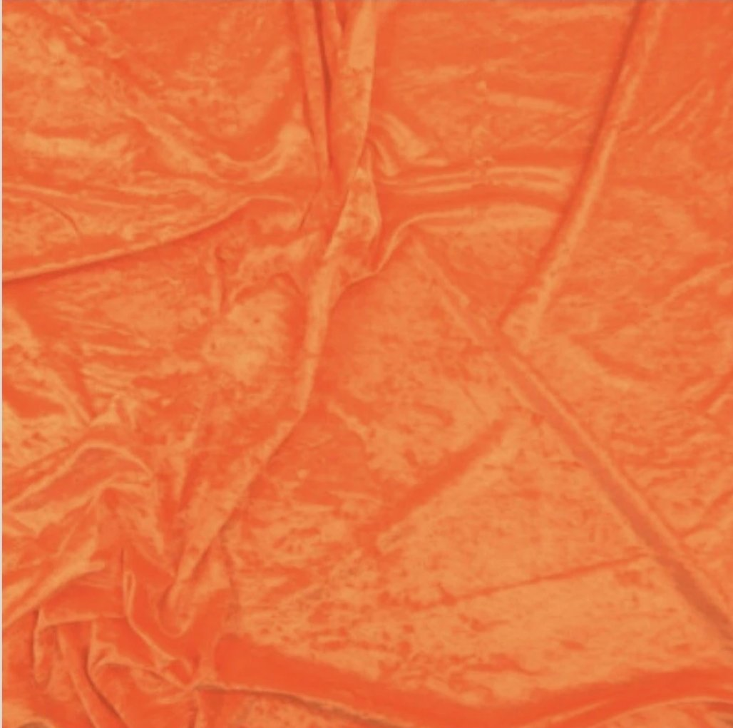 cv1010 Flo Orange Crushed Velvet