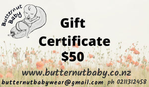 Butternutbaby Gift Card.