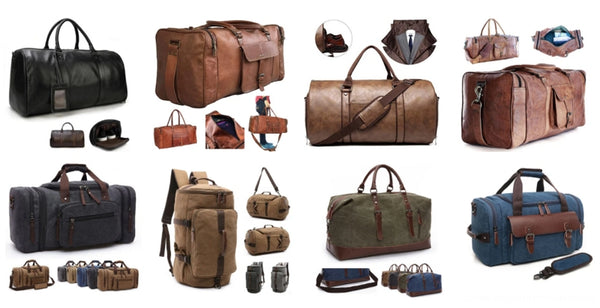 Men's Canvas Duffle Weekend Travel Bags