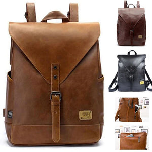 3BX™ Fashion Men's Faux Leather Business/School Tablet Backpack Backpacks MRoyale™ Fashion
