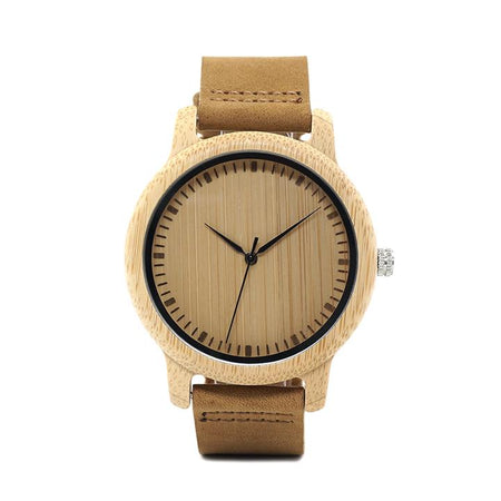BBWood™ Men's Genuine Wooden Casual Fashion Quartz Bamboo Wrist Wood Watch wood watch BBWood™ Fashion Bamboo