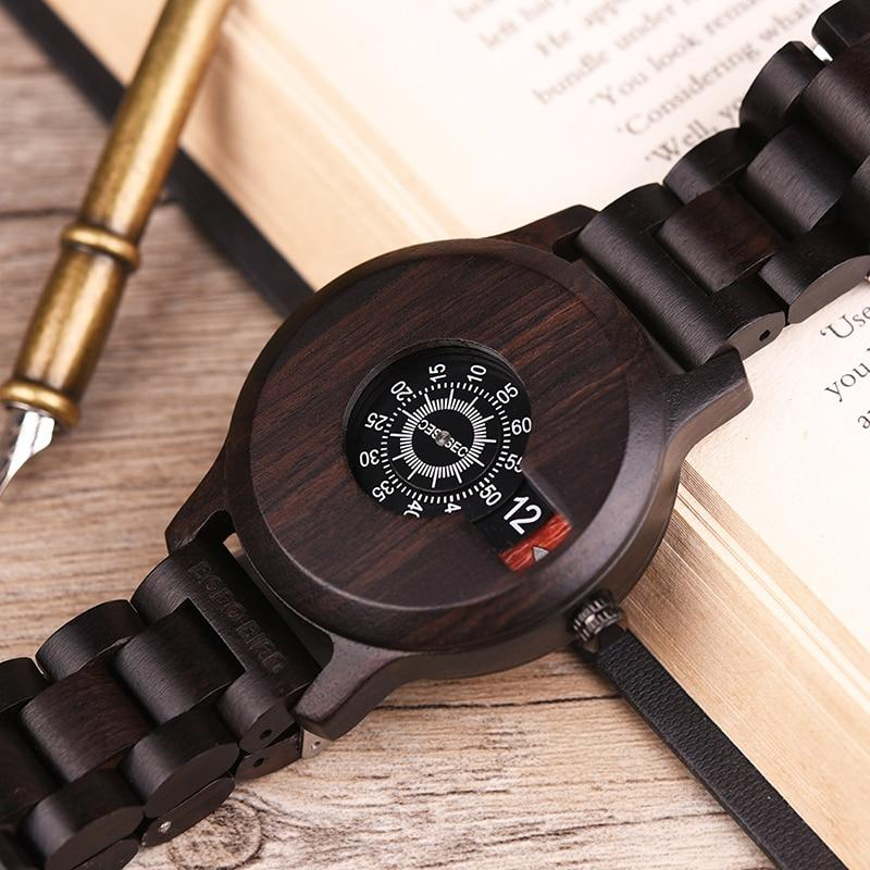BBWood™ Men's Genuine Wooden Casual Fashion Quartz Ebony Wrist Wood Watch wood watch BBWood™ Fashion