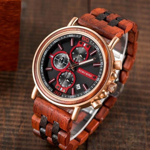 BBWood™ Men's Genuine Wooden Chronograph Watch Wood Watch BBWood™ Fashion Mahogany