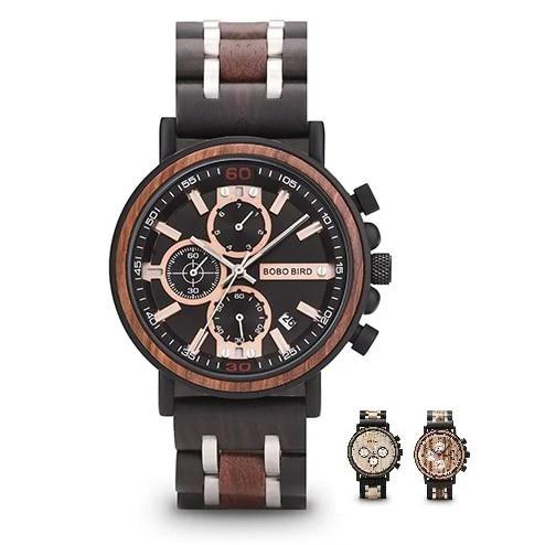 BBWood™ Men's Genuine Wooden Luxury Military Quartz Vintage Wrist Wood Watch wood watch BBWood™ Fashion