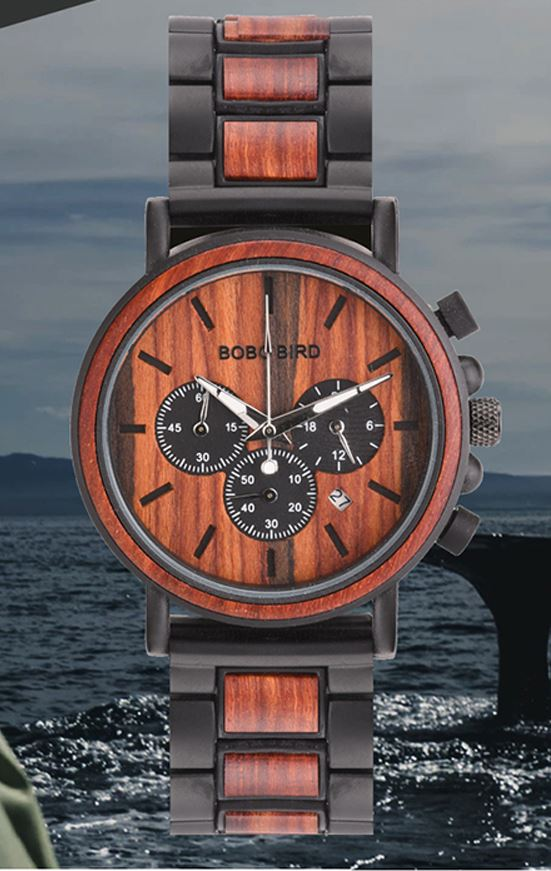 BBWood™ Men's Genuine Wooden Luxury Military Quartz Wrist Wood Watch wood watch BBWood™ Fashion