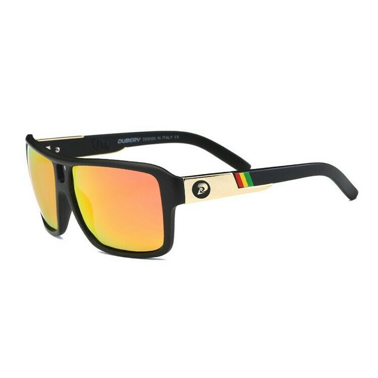 DGen™ Men's Polarized Sunglasses sunglasses DGen™ Fashion Black w/ Orange Lens