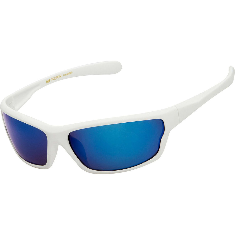 DPElite™ Men's Anti-Glare Polarized Sports Sunglasses sunglasses DPElite™ Fashions White Matte Rubberized | Blue Mirror