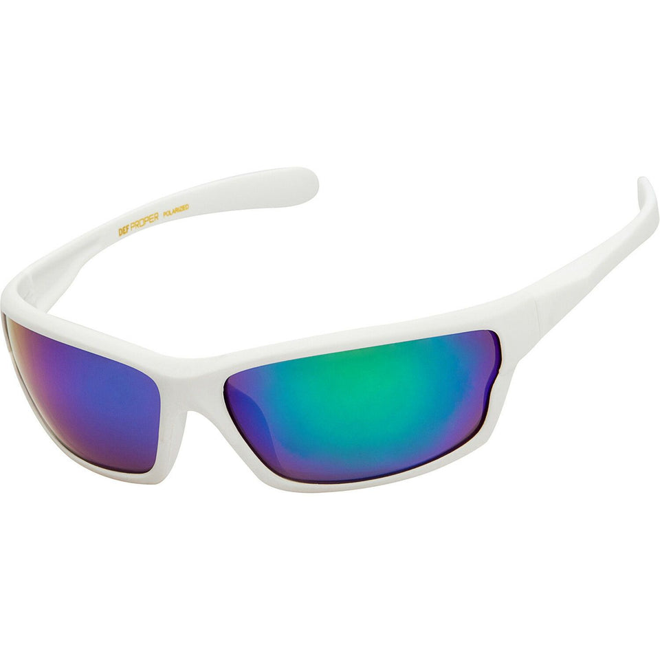 DPElite™ Men's Anti-Glare Polarized Sports Sunglasses sunglasses DPElite™ Fashions White Matte Rubberized | Mystic Mirror