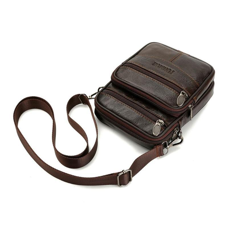 F&M™ Men's Leather Crossbody Messenger Satchel Small Shoulder Bag bag F&M™ Fashion
