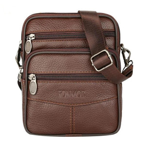 F&M™ Men's Leather Crossbody Messenger Satchel Small Shoulder Bag bag F&M™ Fashion Light Brown United States