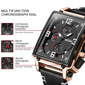 MGR™ Men's Stylish Leather Business Watch Casual Watch MGR™ Fashion