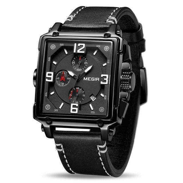 MGR™ Men's Stylish Leather Business Watch Casual Watch MGR™ Fashion Black