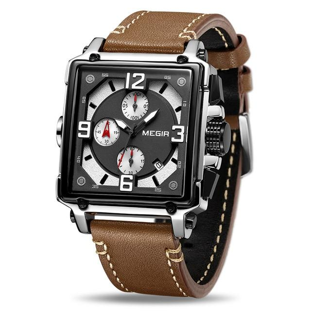 MGR™ Men's Stylish Leather Business Watch Casual Watch MGR™ Fashion Brown