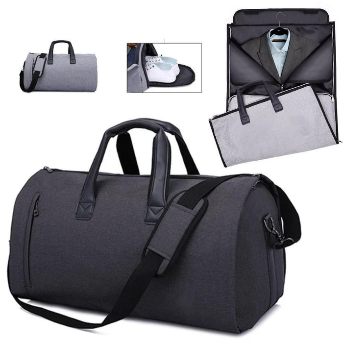 ModG™ Men's Dual Hanging Garment + Duffel Weekend Travel Bag bags ModG™ Fashion Black