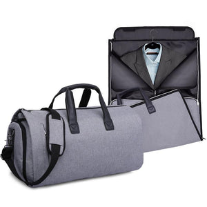 ModG™ Men's Dual Hanging Garment + Duffel Weekend Travel Bag bags ModG™ Fashion Gray