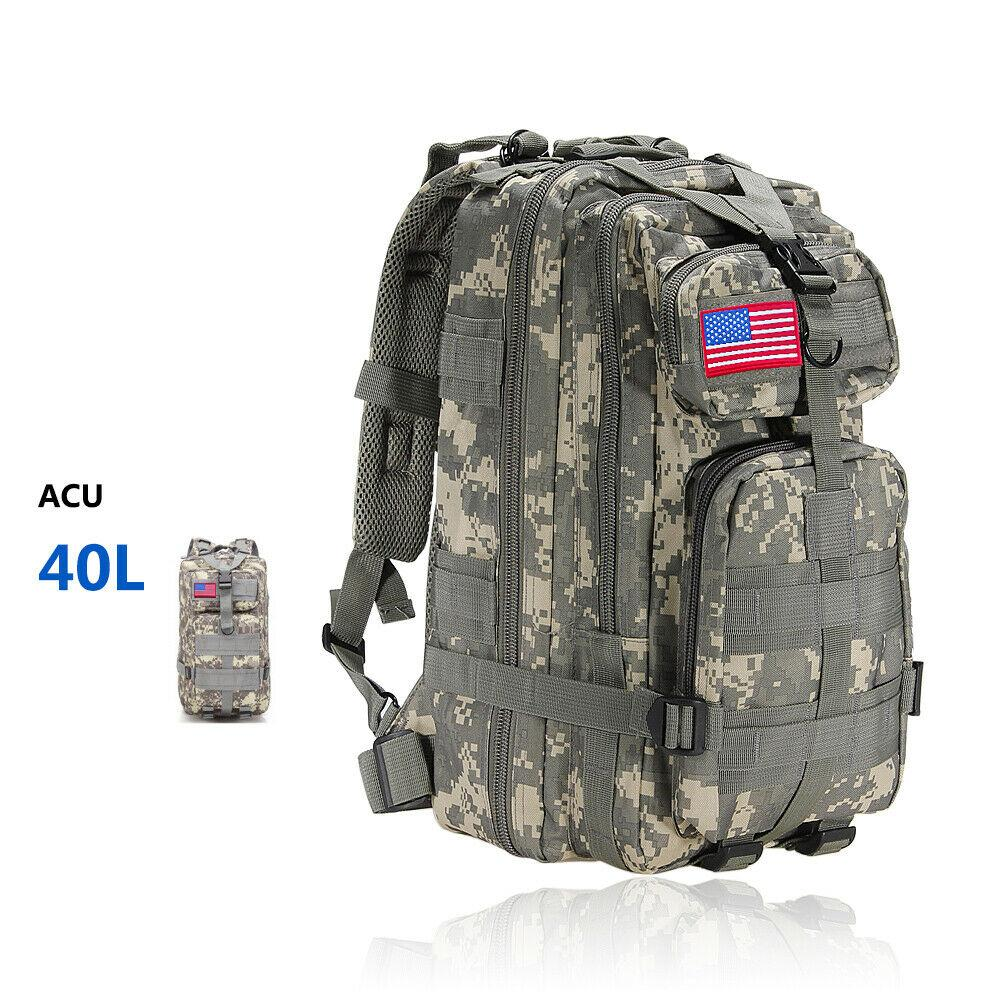 MRoyale™ 40L Military Tactical Army Molle Rucksack Assault Backpack tactical bag MRoyale™ Fashion 40L 40L ACU Camo