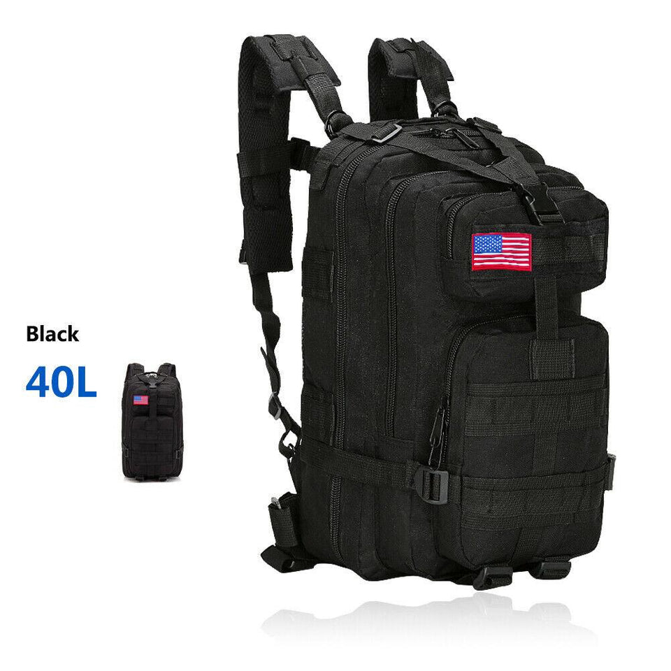 MRoyale™ 40L Military Tactical Army Molle Rucksack Assault Backpack tactical bag MRoyale™ Fashion 40L 40L Black