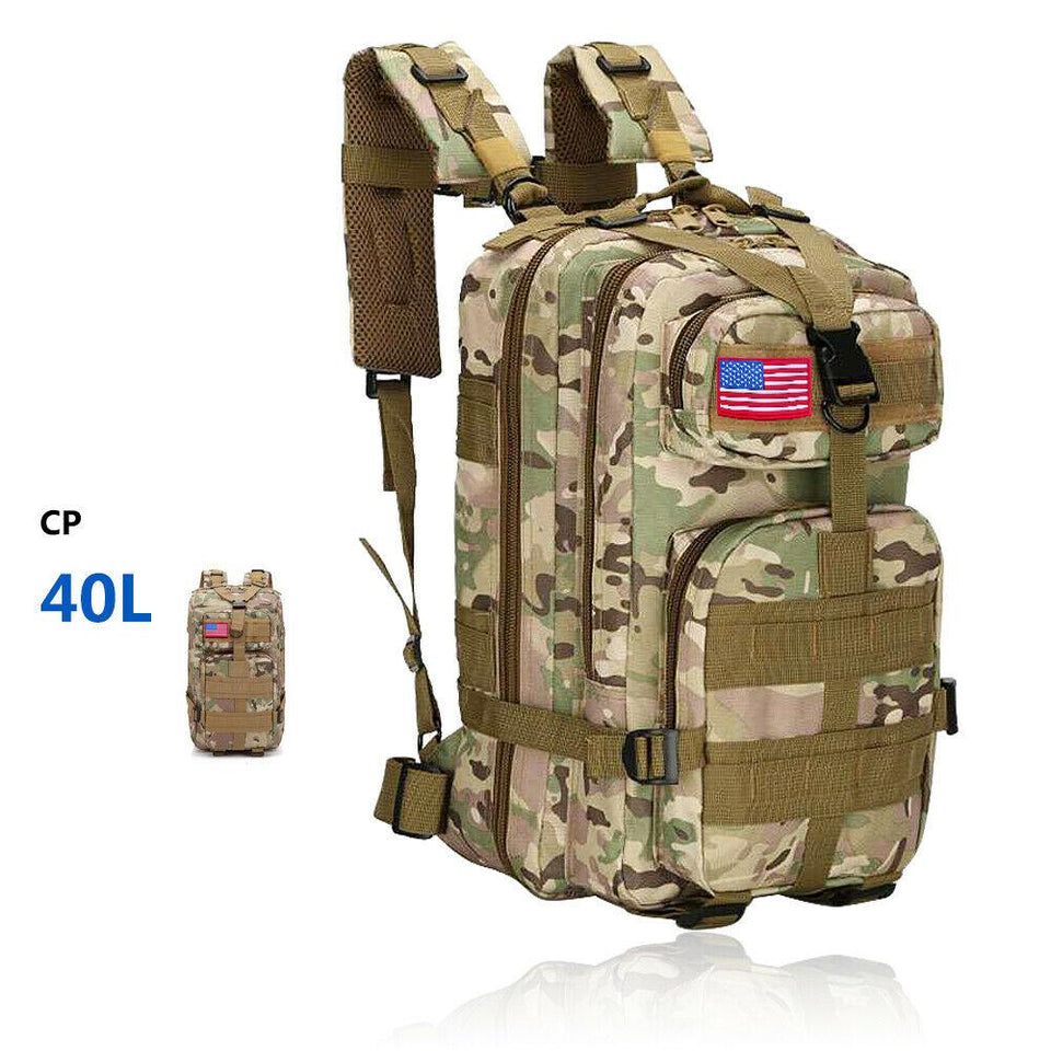 MRoyale™ 40L Military Tactical Army Molle Rucksack Assault Backpack tactical bag MRoyale™ Fashion 40L 40L CP Camo