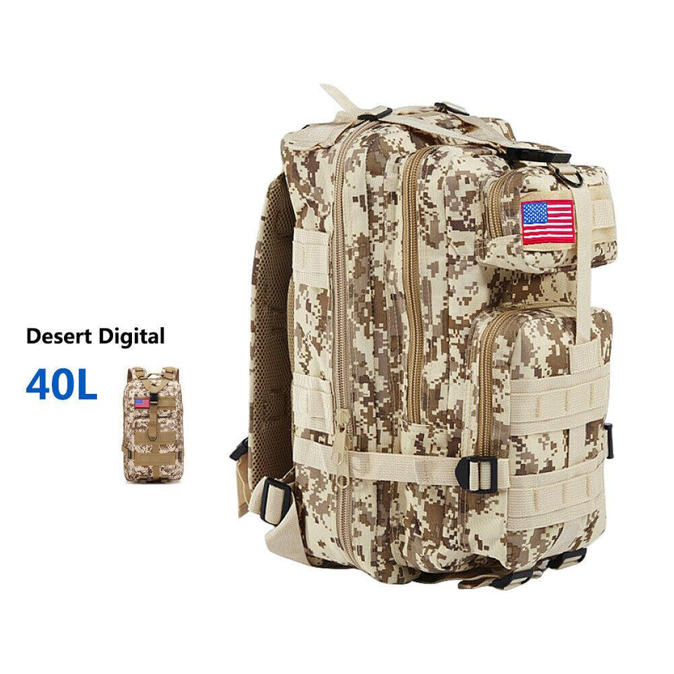 MRoyale™ 40L Military Tactical Army Molle Rucksack Assault Backpack tactical bag MRoyale™ Fashion 40L 40L Digital Desert
