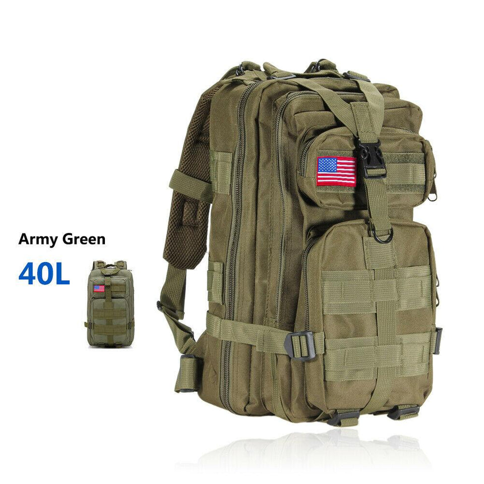 MRoyale™ 40L Military Tactical Army Molle Rucksack Assault Backpack tactical bag MRoyale™ Fashion 40L 40L Green