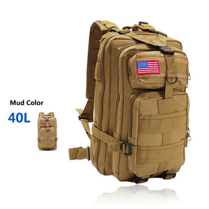 MRoyale™ 40L Military Tactical Army Molle Rucksack Assault Backpack tactical bag MRoyale™ Fashion 40L 40L Mud color