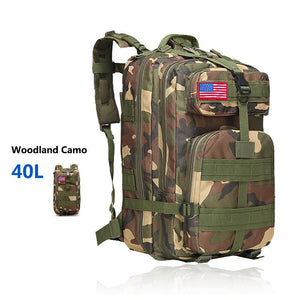 MRoyale™ 40L Military Tactical Army Molle Rucksack Assault Backpack tactical bag MRoyale™ Fashion 40L 40L Woodland Camo