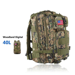 MRoyale™ 40L Military Tactical Army Molle Rucksack Assault Backpack tactical bag MRoyale™ Fashion 40L 40L Woodland Digital Camo