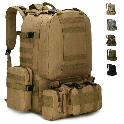 MROYALE™ 55L Military Tactical Army Molle Rucksack Assault Backpack bags MRoyale™ Fashion Brown
