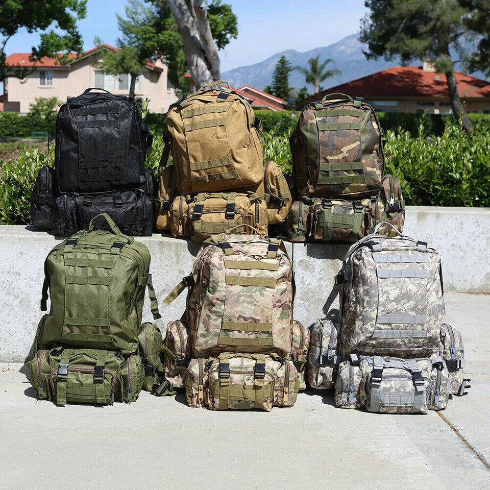 MRoyale™ 55L Military Tactical Army Molle Rucksack Assault Backpack tactical bag MRoyale™ Fashion