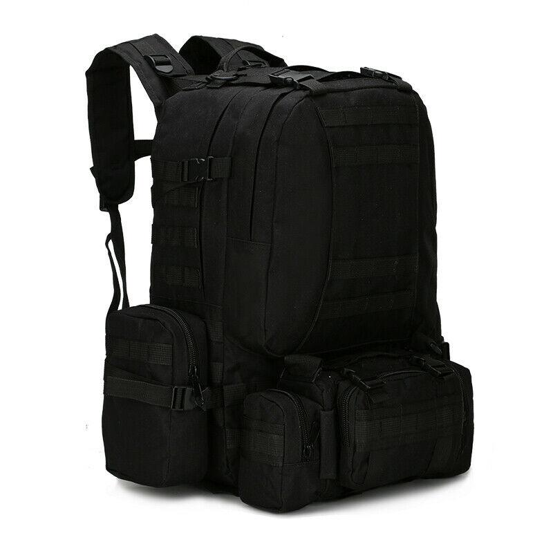 MRoyale™ 55L Military Tactical Army Molle Rucksack Assault Backpack tactical bag MRoyale™ Fashion Black