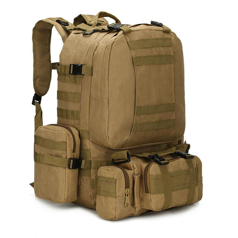 MRoyale™ 55L Military Tactical Army Molle Rucksack Assault Backpack tactical bag MRoyale™ Fashion Brown