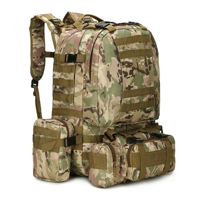 MRoyale™ 55L Military Tactical Army Molle Rucksack Assault Backpack tactical bag MRoyale™ Fashion CP