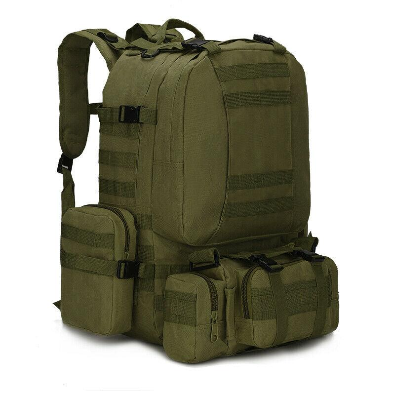 MRoyale™ 55L Military Tactical Army Molle Rucksack Assault Backpack tactical bag MRoyale™ Fashion Green