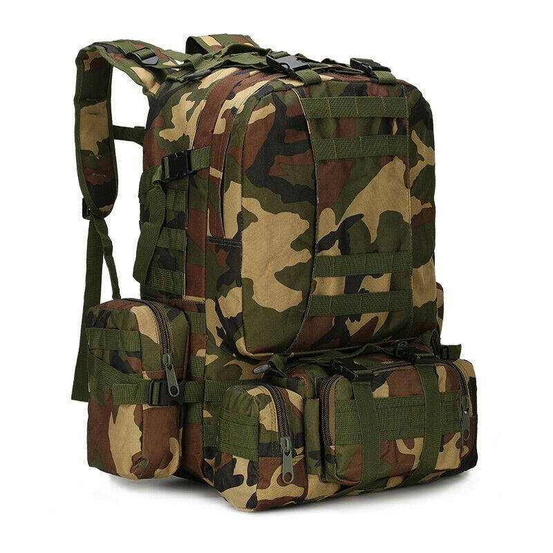 MRoyale™ 55L Military Tactical Army Molle Rucksack Assault Backpack tactical bag MRoyale™ Fashion Jungle camouflage