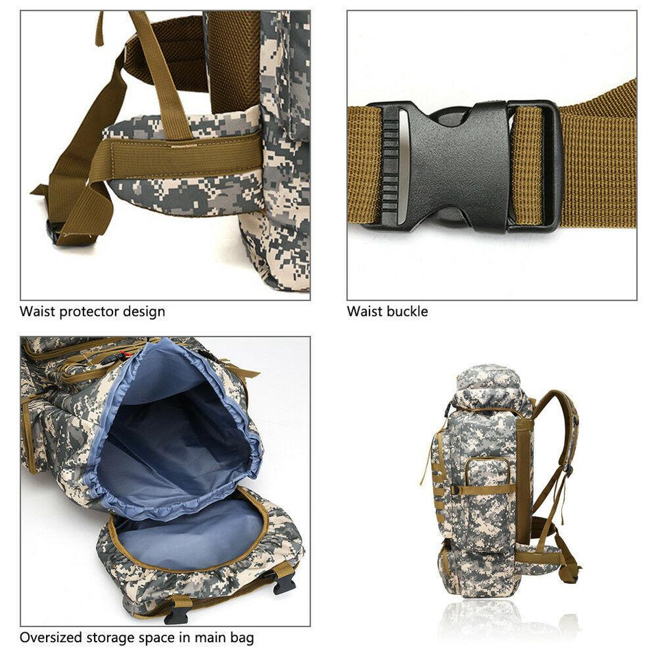 MRoyale™ 80L Military Tactical Army Molle Rucksack Assault Backpack tactical bag MRoyale™ Fashion