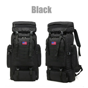 MRoyale™ 80L Military Tactical Army Molle Rucksack Assault Backpack tactical bag MRoyale™ Fashion Black