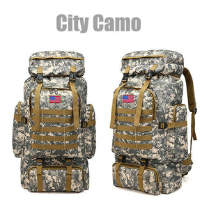 MRoyale™ 80L Military Tactical Army Molle Rucksack Assault Backpack tactical bag MRoyale™ Fashion City Camo