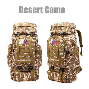 MRoyale™ 80L Military Tactical Army Molle Rucksack Assault Backpack tactical bag MRoyale™ Fashion Desert Camo