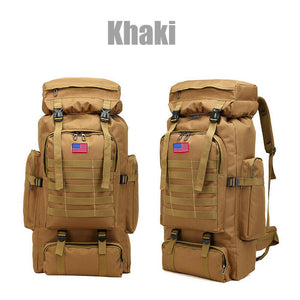 MRoyale™ 80L Military Tactical Army Molle Rucksack Assault Backpack tactical bag MRoyale™ Fashion Khaki