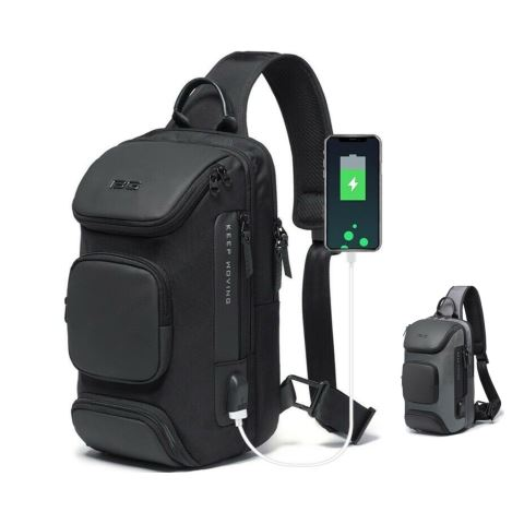 MROYALE BG™ Men's Anti-Theft Sling USB-Charging Chest Crossbody Shoulder Backpack Crossbody MRoyale™ Fashion