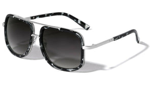MRoyale™ Elite Men's Aviator Sunglasses sunglasses MRoyale™ Fashion Black Tortoise/Silver Frame