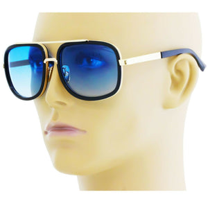 MRoyale™ Elite Men's Aviator Sunglasses sunglasses MRoyale™ Fashion Gold Frame / Blue
