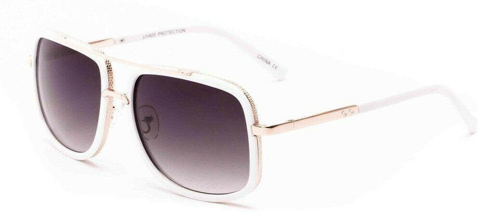 MRoyale™ Elite Men's Aviator Sunglasses sunglasses MRoyale™ Fashion Gold White Frame / Smoke