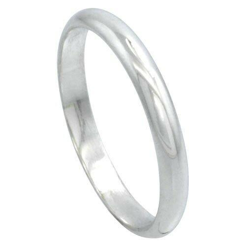 MRoyale™ Genuine Men's 925 Sterling Silver (2-10mm Thick) men's ring MRoyale™ 3 3mm Plain Band