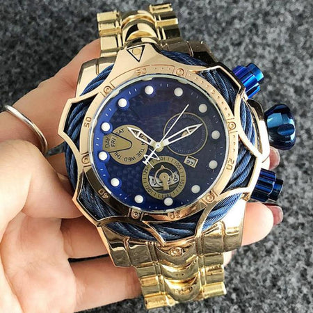 MRoyale™ Golden Waterproof Quartz Business Luxury Watch watch EliteDealsOutlet