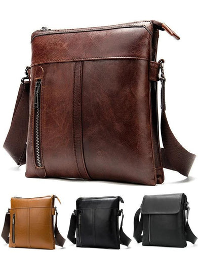 MRoyale™ Men's 100% Leather Crossbody Messenger Satchel Shoulder Bag crossbody bag MRoyale™ Fashion