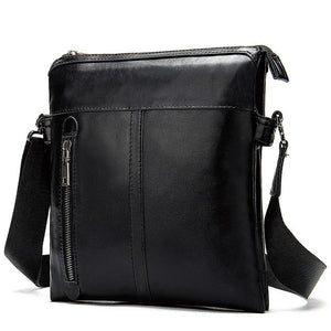 MRoyale™ Men's 100% Leather Crossbody Messenger Satchel Shoulder Bag crossbody bag MRoyale™ Fashion Black