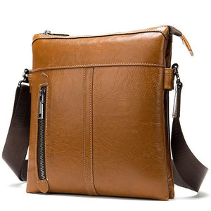 MRoyale™ Men's 100% Leather Crossbody Messenger Satchel Shoulder Bag crossbody bag MRoyale™ Fashion Red Brown
