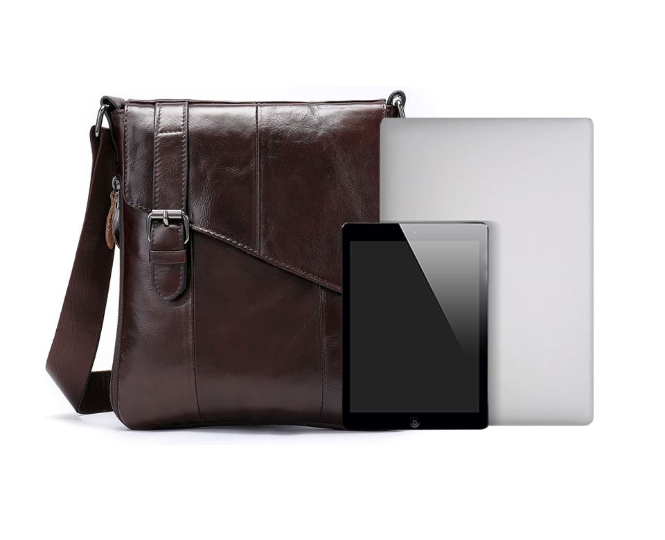 MRoyale™ Men's 100% Leather Crossbody Messenger Satchel Shoulder Bag Home MRoyale™ Fashion