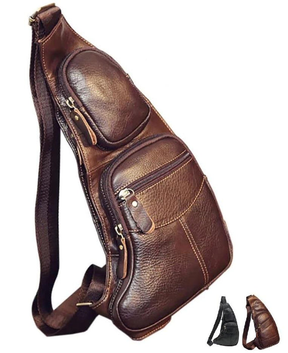 MRoyale™ Men's 100% Leather Crossbody Sling Messenger Satchel Bag crossbody bag MRoyale™ Fashion